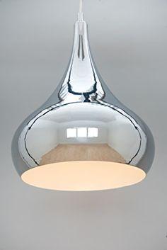 Modern Designer Teardrop Ceiling Pendant Light - Chrome -... https://www.amazon.co.uk/dp/B01CYE1RY2/ref=cm_sw_r_pi_dp_vtaJxbXCCJNBM