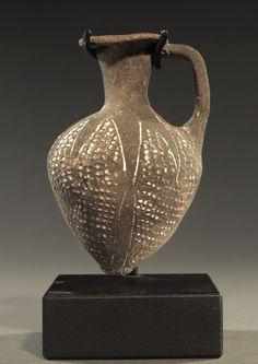 Egyptian Tell El-Yehudieh ware pottery juglet.