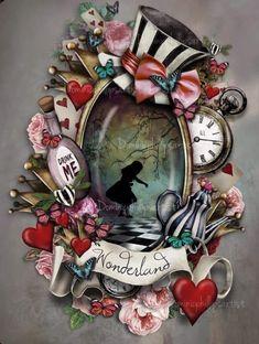 Alice In Wonderland Artwork, Alice In Wonderland Aesthetic, Alice And Wonderland Tattoos, Alice In Wonderland Illustrations, Alice In Wonderland Tea Party, Adventures In Wonderland, Arte Disney, Disney Art, Arte Lowbrow