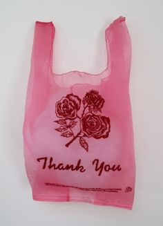 A cheap plastic bag from a dollar store? Nope, its bridal organza embroidery thats been made to look exactly like a cheap plastic bag from a dollar store. by lauren dicioccio Red And Pink, Pretty In Pink, Storing Plastic Bags, Pink Aesthetic, Organza Bags, Pink Flowers, Hand Embroidery, Embroidery Ideas, Textile Art
