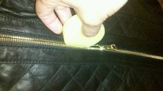 Using Bee's Knees Zipper Wax on ALL of your clothing zippers keeps them running smooth.