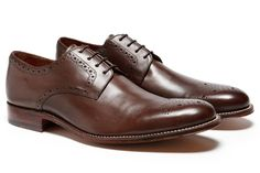 Grenson Tyler Brown Leather Shoe - Bonobos Mens Shoes