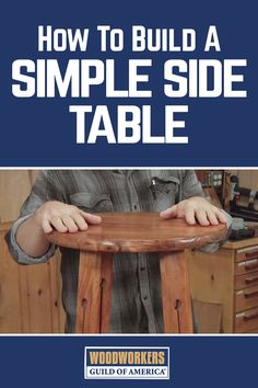 Spike Carlsen teaches you how to build a side table in your workshop. He walks you through the step-by-step instructions, demonstrating all of the essential woodworking tips and techniques, such as laying out the dimensions and bracing the legs to the top and shelf. This beautiful craftsman side table is a great project for all skill levels of woodworkers.