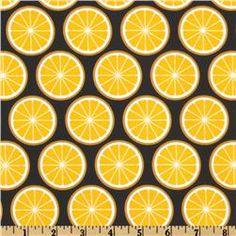 Black and yellow fabric print