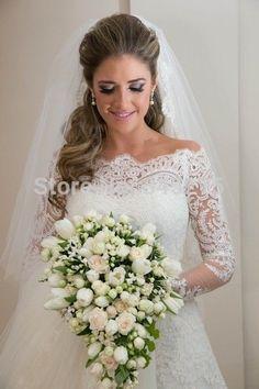 2015 New White/ivory Wedding dress Bridal Gown custom size 6-8-10-12-14-16
