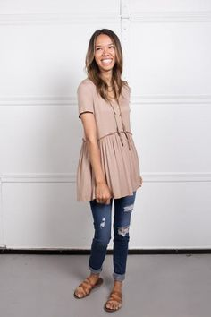 the perfect empire waist gathered ruffled t-shirt that looks great on everyone