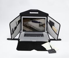 A mobile workstation that holds your laptop and all of your office essentials in one neatly contained and stylish briefcase-like satchel in fine leather. Laptop Briefcase, Leather Laptop Bag, Leather Satchel, Leather Suitcase, Tech Gadgets, Cool Gadgets, Technology Gadgets, Travel Gadgets, Portable Workstation
