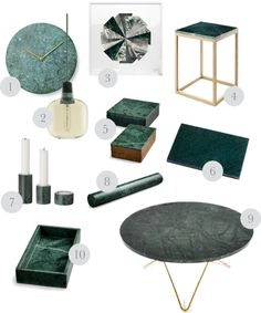 10 great green marble items