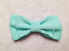 Mint Double Bow by SophiaCo on Etsy