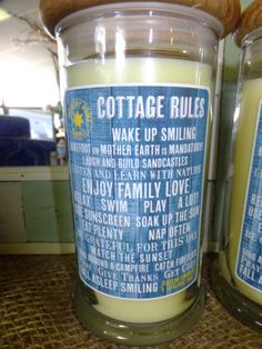 Cute Cottage Rules Candles! @ August Skies in Port Elgin