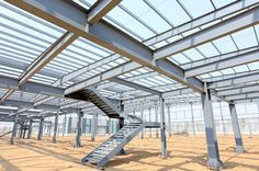 Steel is an ideal; material which is used in the construction of the building. It is not only used is garages and large agriculture buildings but also useful for making the building structure… Steel Structure Buildings, Great Buildings And Structures, Building Structure, Metal Structure, Brick Building, Construction Container, Steel Frame Construction, Steel Frame House, Steel House