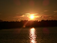 Sonnenuntergang Thülsfelder Talsperre Augenommen mit einfacher Digitalkammera