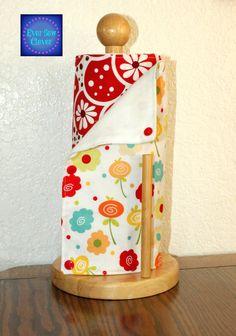 UnPaper Towels, Un Paper Towels, Cotton Dishtowel, Reusable Paper Towel, Eco Friendly Towel, Birdseye Cloth, Set of 12, Red & White Flowers