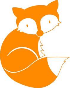 Fuchs aus *Dachs & Co.*, orange, Velours-Motiv zum Aufbügeln