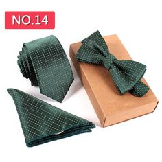 Skinny Tie Sets Complete your wardrobe with this complete set! Necktie, bow tie, and pocket square for one great price! Get yours today and be ready for any Traje Slim Fit, Green Bow Tie, Slim Tie, Tie Styles, Wedding Ties, Party Wedding, Tie And Pocket Square, Pocket Squares, Tie Set