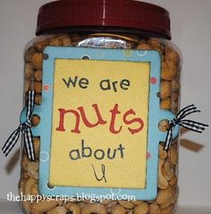 Father's Day Gift Idea for dad or grandpa ~ We are nuts about U for papa