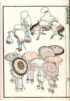 Hokusai sketches