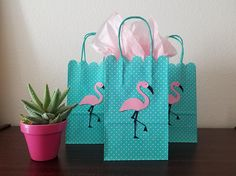 Flamingo party bag set of 20