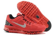 Nike Air Max+ 2013 Women's Running Shoes - Red / Black / Silver