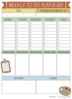 Free Printable Weekly To Do Planner