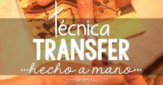 Técnica transfer paso a paso para principiantes | Aprender manualidades es facilisimo.com:
