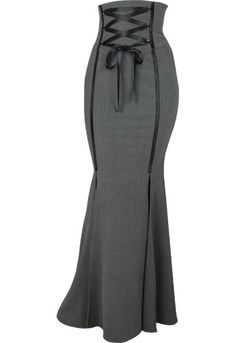 I wonder if I could slay in this?! Steampunk Sexy PinUp Grey Plus Size Corset Skirt $49.95