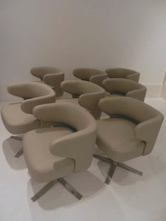 Gianni Moscatelli; Dining Chairs for Formanova, 1970s.