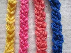 Simple Crochet Braid Trim - picture tutorial