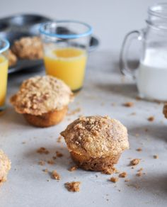 Whole wheat coffee cake muffins. Sub the brown sugar for coconut sugar and you have a healthier, tasty brunch treat!