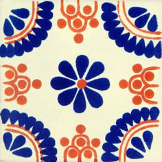 Blue Terracotta Madrid Mexican Ceramic Talavera Tile - TilesAndTiles Cookie Decorating, Decorating Your Home, Mexican Pattern, Mexican Ceramics, Heart Patterns, Terracotta, Tiles, Vibrant Colors, Nail Art