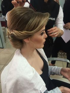 Wedding hairstyle #updo #twisted