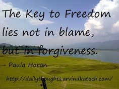 Thought for the day: forgiveness