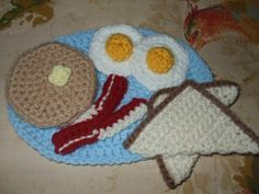 Crochet breakfast (these are all for Michael's play kitchen!) :)