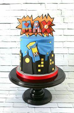 That Baking Girl Superman Cakes, Disney Frozen Cake, Monster High Cakes, Avenger Cake, Lego Cake, Cake Minecraft, Minecraft Houses, 3rd Birthday Cakes, Superhero Cake