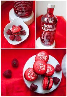 Macaron Fetish: Raspberry Vodka Jelly Dark Chocolate Ganache Macaron Recipe