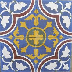 Cement Tile Shop | Roseton Azul