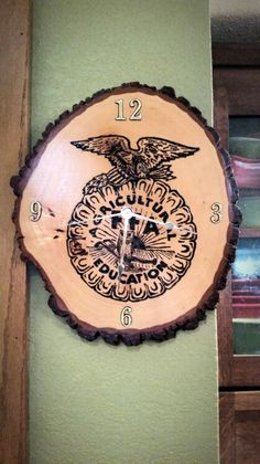I made something just like this with the FFA emblem, just didn't make it into a clock