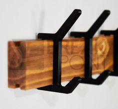 Industrial Irons, Hook Rack, Iron Pipe, Cool Gear, Metal Shelves, Wall Hanger, Wood Design, Carpentry, Wood Projects