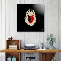 Discover «Light my Heart», Limited Edition Acrylic Glass Print by IndianaStudio - From 99€ - Curioos