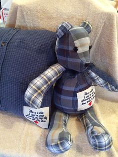 Memory pillow or bear made from a  loved ones by SewingDone