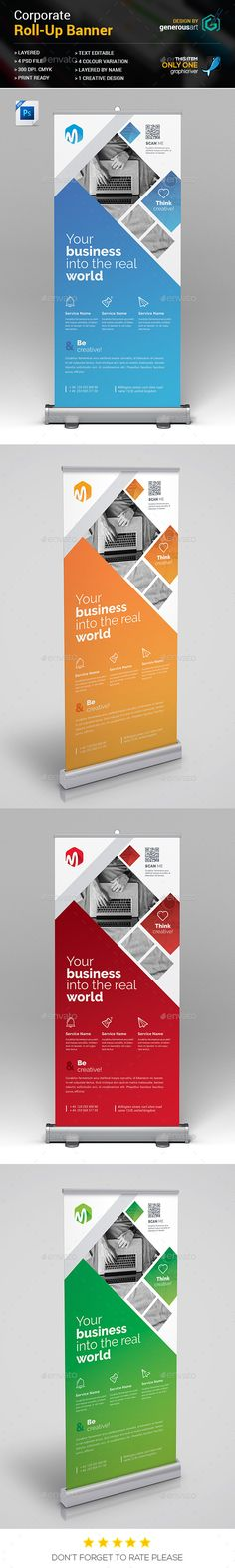 Roll-Up Banner Template PSD More