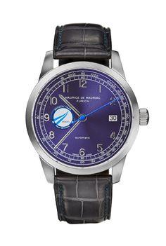 Elegant Swiss made timepiece handcrafted in Zurich by Maurice de Mauriac. #luxurytimepiece #swissmadeluxurywatches #menswatches