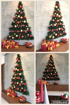 flat wall christmas tree - Christmas Wall Decor