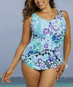 b09d5ce4fb Look at this Blue Beach Belle Bondi Sarong One-Piece - Women  amp  Plus