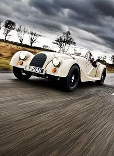 The Morgan 3 wheeler is a beautifully classic car to drive on weekends.