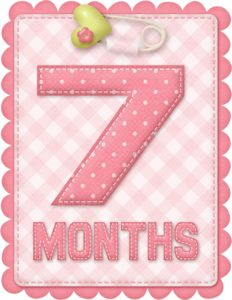 Free Printable Baby Month Counter for Girls. - Oh My Baby! Clipart Baby, Baby Shower Clipart, Baby Girl Scrapbook, Welcome Baby Girls, Baby Journal, Girls Album, Baby Cards, Baby Photos, Cartonnage
