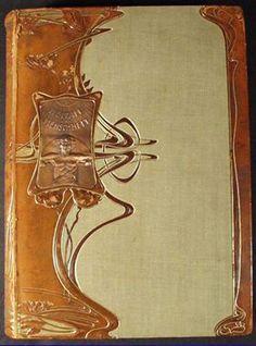 Art Nouveau - Couverture de Livre Relié - Cuir - Vers 1905