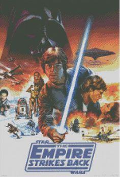 Cross stitch chart, pattern. Empire Strikes Back, Luke Skywalker, Star Wars, in Crafts | eBay