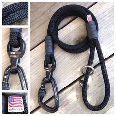 Ultimate Climbing Rope Dog Leash with 360 Swivel and Locking Carabiner. Made in USA by MyDogsCool.com