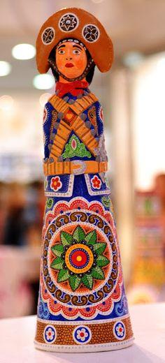 Ismael Pereira. Cangaceiro, acrílica sobre cerâmica   Reproduçao fotográfica e-Sergipe